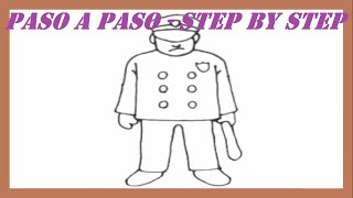 Como dibujar un Policía paso a paso l How to draw a Policeman step by step