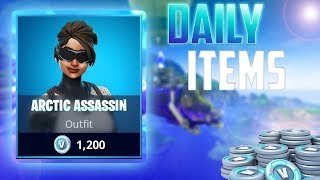 Buying the Arctic assassin skin on fortnite battle royale