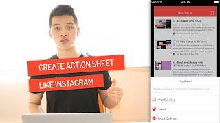 Build Action Sheet like Instagram | Code Hangout ESP 75 | iOS Development Tutorial