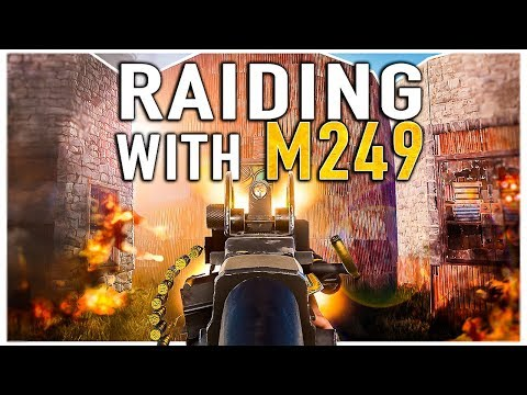 RAIDING THE ENTIRE SERVER WITH M249!! - RUST (Ep-4) thumbnail