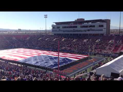Maaco Bowl 2012 - National Anthem by Jacob Lusk w/ Flyover by Nellis F-15s