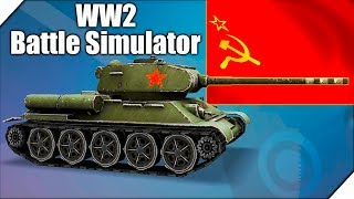 ТЕХНИКА СССР НЕ ТАЩИТ В ИГРЕ - Игра WW2 Battle Simulator