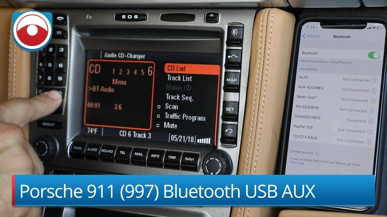 Porsche 911 996 >> Porsche 911 (997) Bluetooth USB AUX adapter 2018 Version - YouTube
