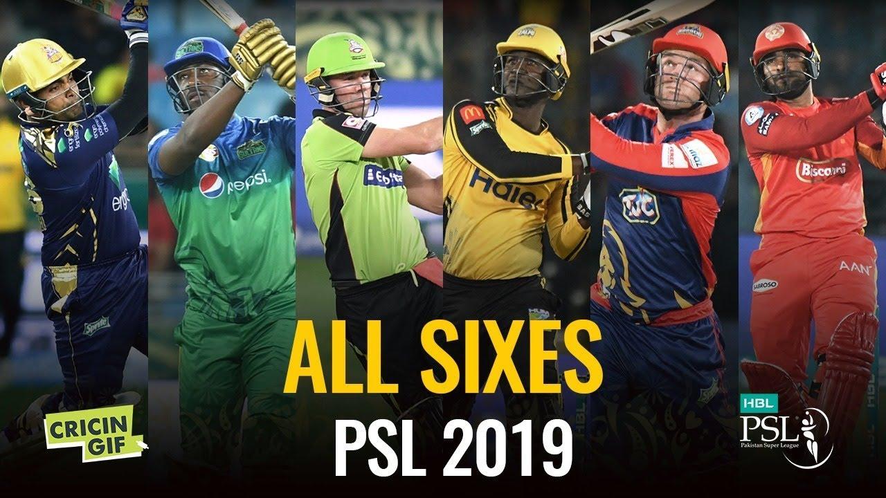ALL SIXES  - Pakistan Super League 2019
