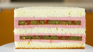 РЕЦЕПТ ТОРТА ЯГОДНАЯ ПОЛЯНА Сочный бисквитный торт с ягодами Вкусный торт за пару часов