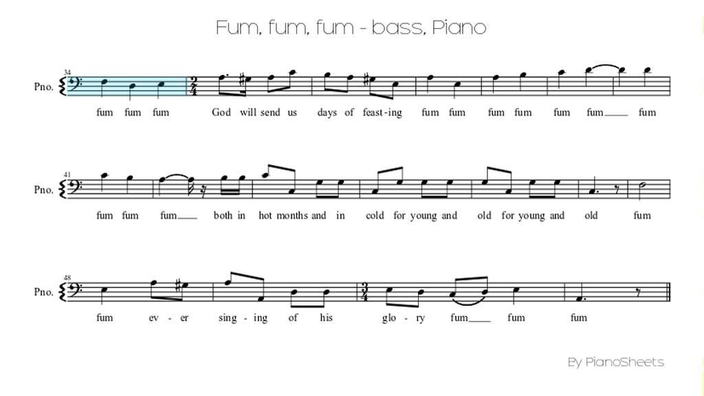 Fum, fum, fum - bass [Piano Solo] - YouTube