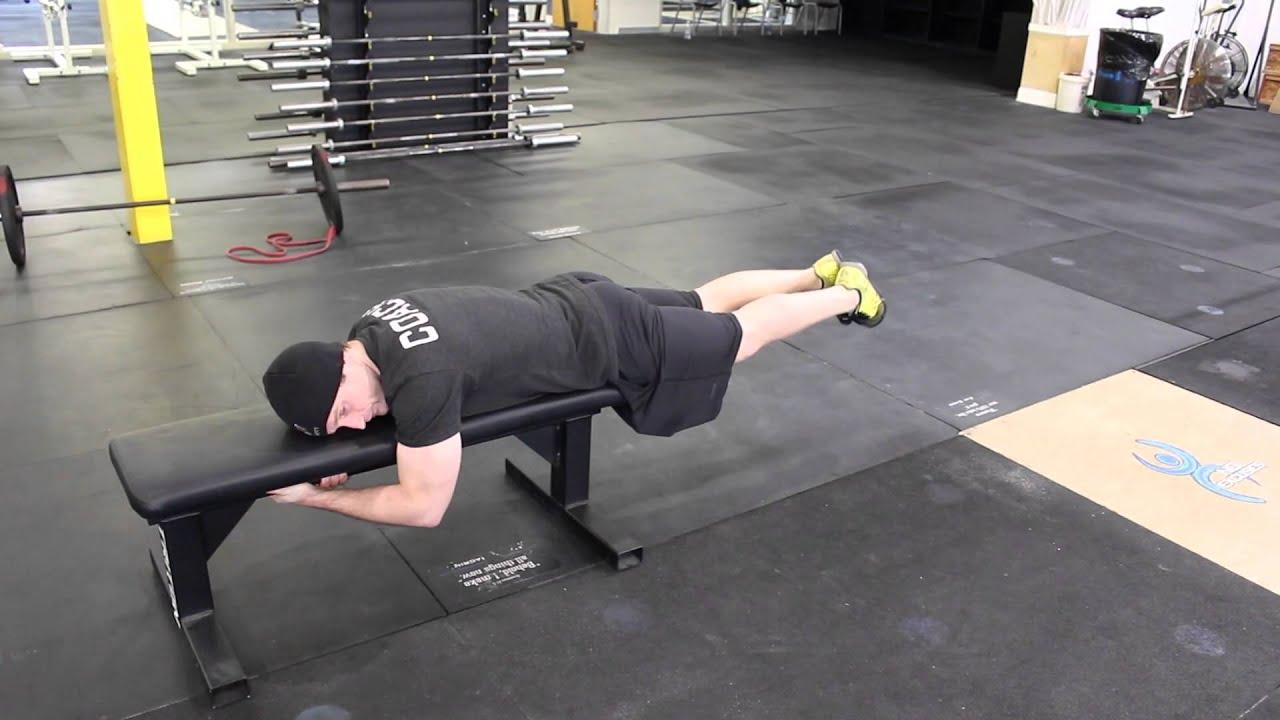 Bench Leg Lift Hold - YouTube