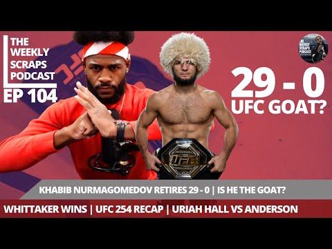 Khabib Nurmagomedov Retires 29-0 | Whittaker Wins | UFC 254 Recap | Uriah Hall vs Anderson Silva