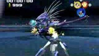 Super Sonic and Super Shadow vs Metal Overlord