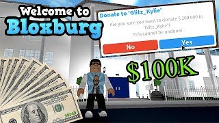 GIVING A FAN 100K - France BLOXBURG - France QUI VEUT DE L'ARGENT ? #GIVEAWAY ROBLOX - France FAMBAMGAMING (FAMBAMGAMING)