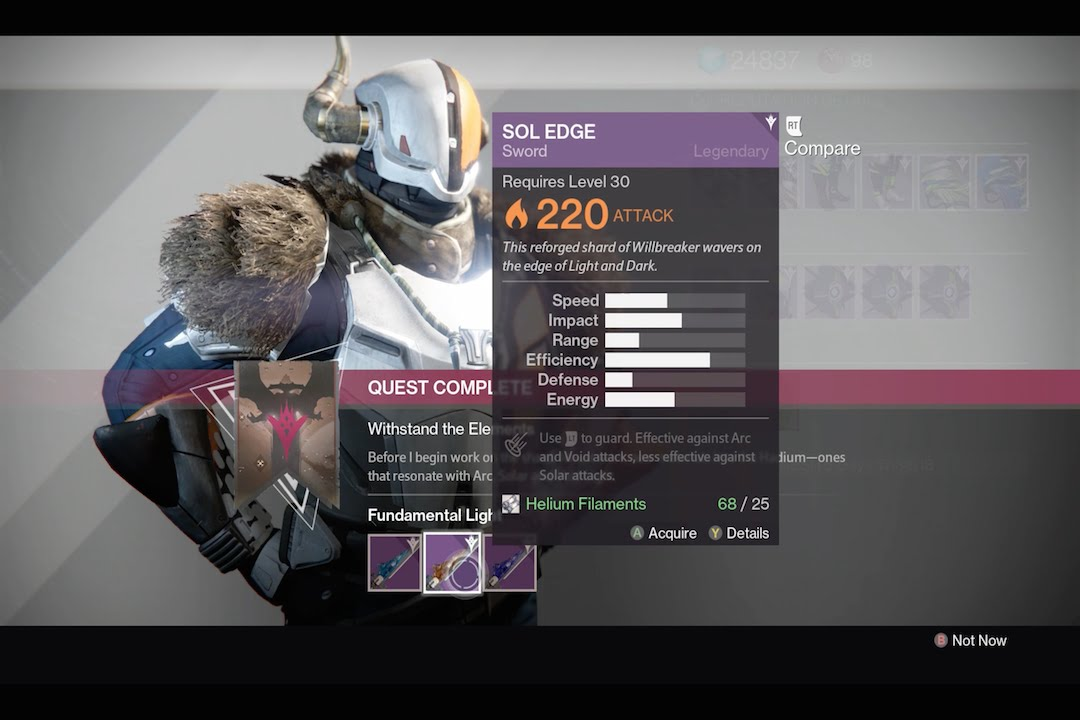 Destiny the taken king fastest way to get the sword heavy weapon