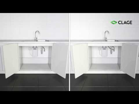 CEX-U – installation and mounting of the instant water heater at a kitchen  sink