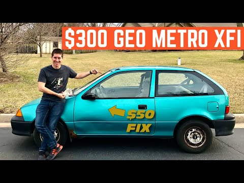 I BOUGHT A Geo Metro For $300 And FIXED It In ONE DAY