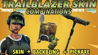 """TRAILBLAZER"" SKIN BEST BACKBLING COMBINATIONS! (Fortnite Battle Royale) (2018) (TWITCH PRIME SKIN)"
