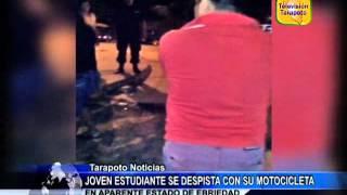 JOVEN ESTUDIANTE SE DESPISTA CON SU MOTOCICLETA EN APARENTE ESTADO DE EBRIEDAD