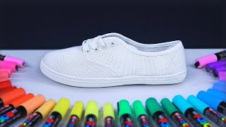 Custom Painting Dollar Store Shoes?! (satisfying)