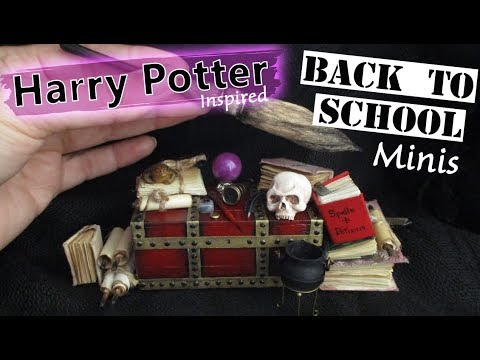 Harry Potter Inspired, Witches & Wizards, Back To School Miniatures Tutorial    Maive Ferrando