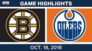 NHL Highlights | Bruins vs. Oilers - Oct. 18, 2018