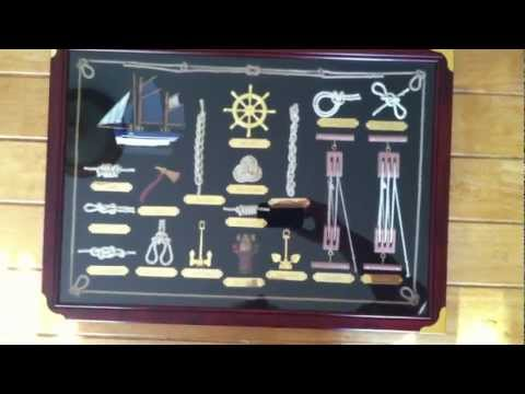 Nautical Decor Shadow Box Wood Frame Display Sailing Ship Knots Anchors Sailor - 330833536314