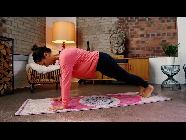 Yoga-Übung - Die Welle