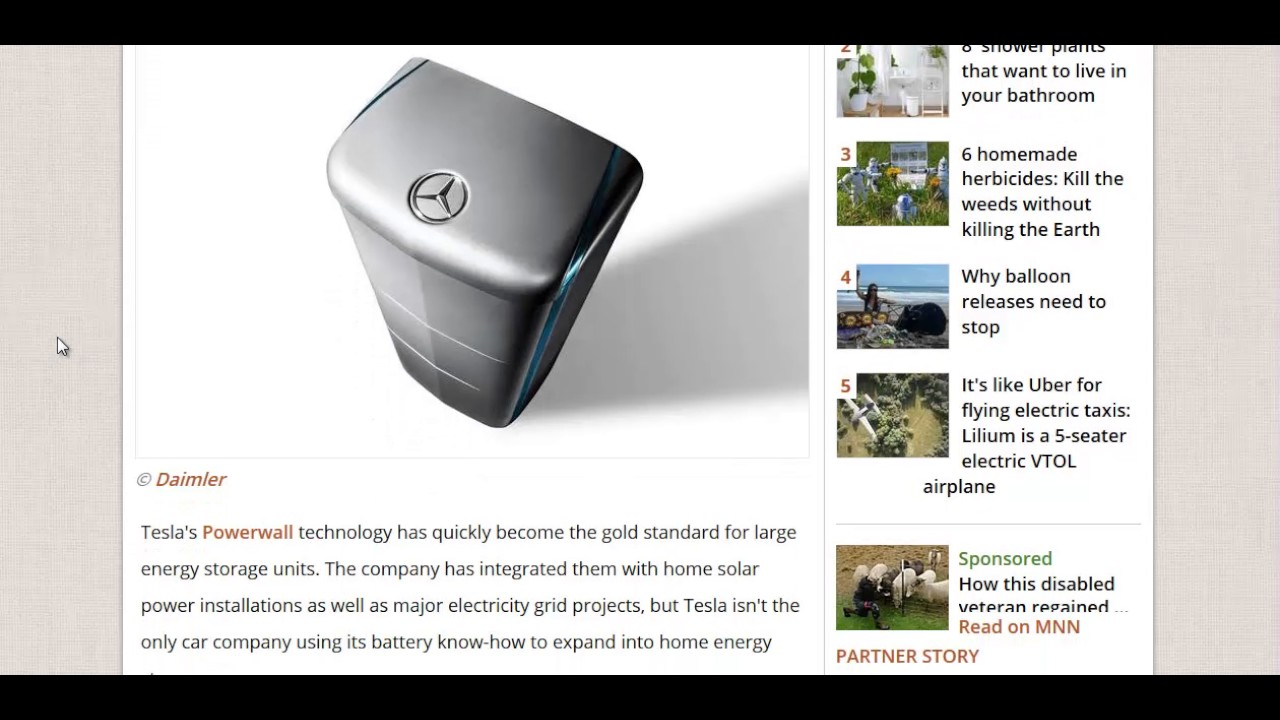 Mercedes Is Selling Solar Batteries Youtube
