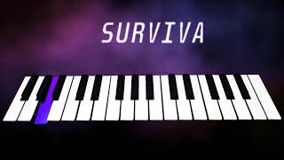 SURVIVA - VIVEGAM Song Cover - Piano - Music Notes - Tutorial