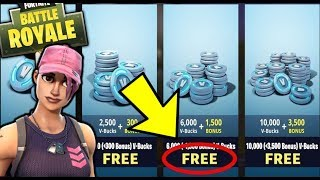 How to get lots of V-Bucks FREE?! Fortnite Battle Royale Tip!
