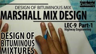 Marshall Mix Design | Lec-9 Part-1 | GATE