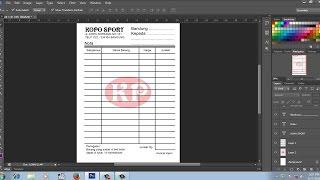 cara membuat nota | bon dengan photoshop