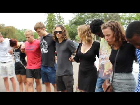 Prayer group outside Tuks campus