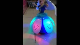 Búp bê Elsa quay 360 độ Phát Sáng, Hát Nhạc