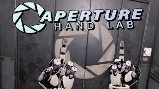 Aperture Hand Lab - Getting Handsy With Some Personality Cores (VR gameplay, no commentary)