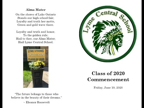 Lyme Central School 2020 Graduation