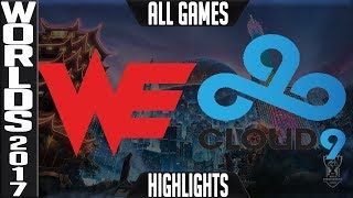 WE vs C9 Highlights ALL GAMES - Worlds 2017 Quarterfinals Team WE vs Cloud 9 Up ALL GAMES