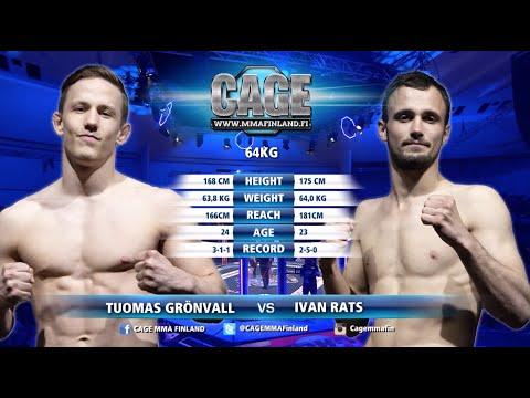 CAGE 47 Tuomas Grönvall vs Ivan Rats Full Fight MMA