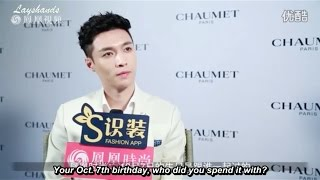 eng sub 161022 ifeng fashion q with yixing at chaumet s garden party