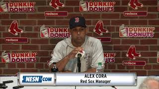 Alex Cora addresses media following Hanley Ramirez designated for assignment