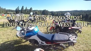Africa Twin Adventure Sports! Demo Ride at Touratech Rally West 2018!