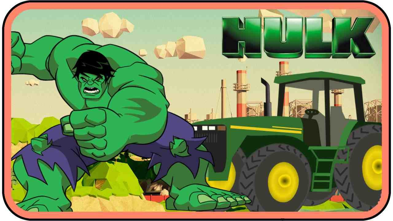 Colors for kids to learn with incredible hulk in excavator   Hulk ...