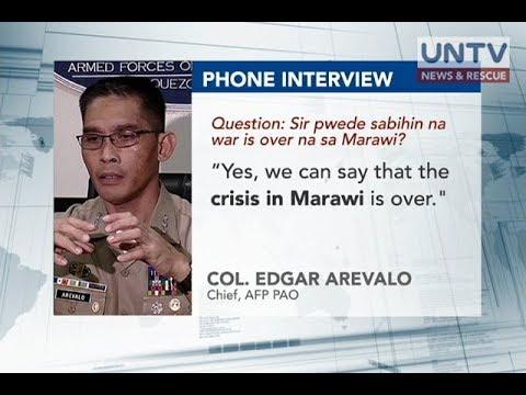 Krisis sa Marawi tapos na ayon sa AFP