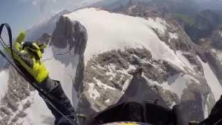 Landing on the summit of Marmolada