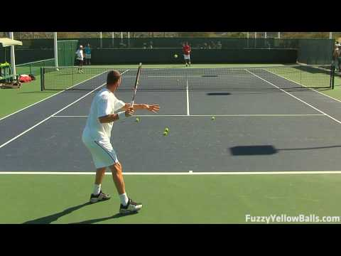 Marat Safin Forehands from the Back Perspective in HD