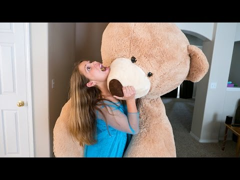 Elsa Attacked by GIANT Teddy Bear!! Behind the Scenes | Twins & Toys Family Vlog