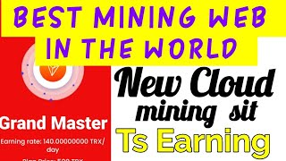 New mining web || cloud mining || mining with mobile || free cryptocurrency mining
