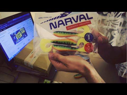 Распаковка заказа от Spinningline.ru с крупным силиконом Narval и крючками Hitfish.