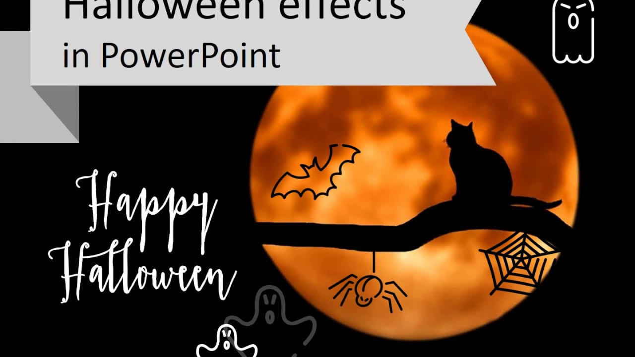 adding halloween effect to powerpoint youtube