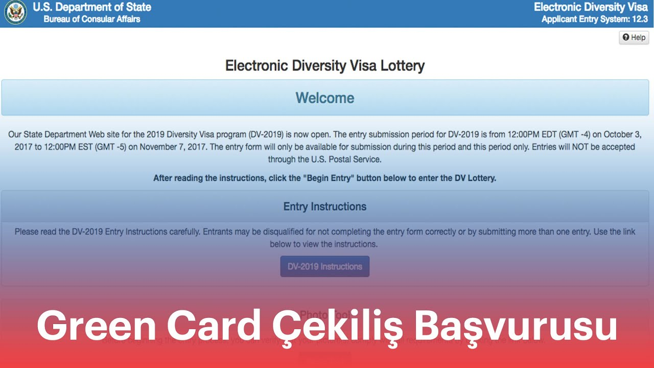 (DV2021 oncesi icin) Green Card Cekilis Basvurusu