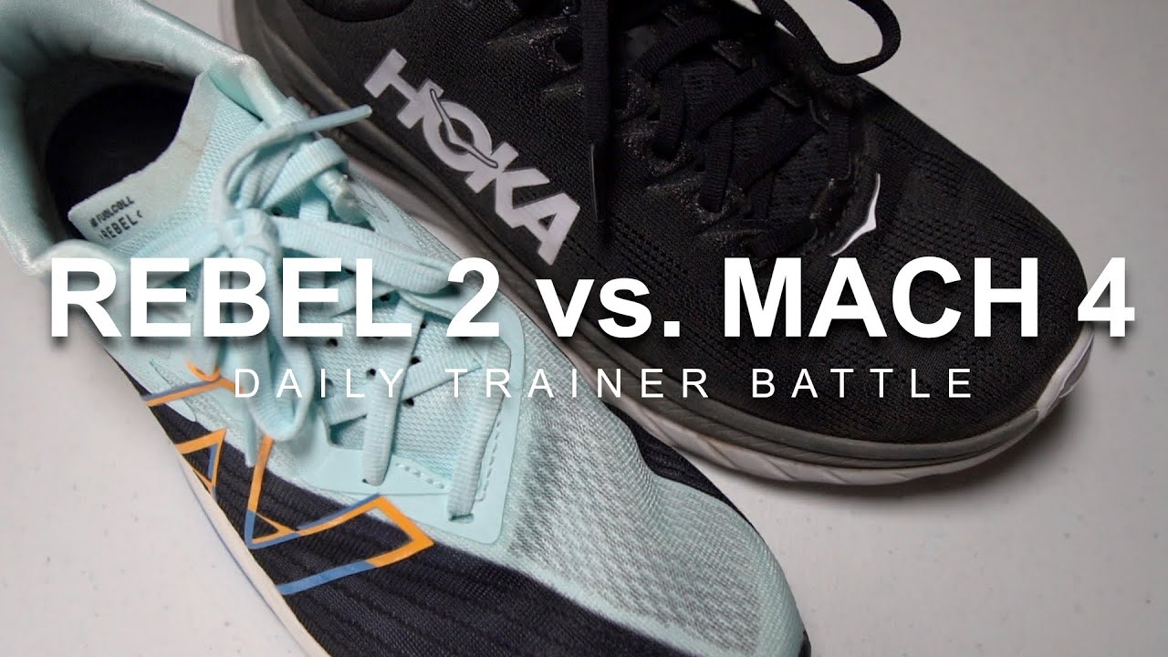 Download Hoka Mach 4 vs. New Balance Rebel 2 - Daily Trainer Battle