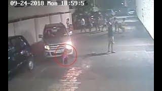 Boy run over by car, stands up, walks away