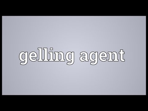 Gelling agent Meaning